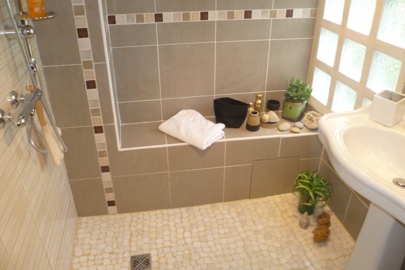 R novation salle de bain 4m2 en spa saint germain de - Amenagement salle de bain 4m2 ...